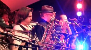 Chuck Hansen performs with Tower of Power